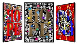 Iconic Hope by Patrick Rubinstein - Kinetic sized 19x28 inches. Available from Whitewall Galleries